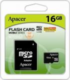 Apacer 16 GB microSDHC Class 10 + SD adapter AP16GMCSH10-R - фото 1