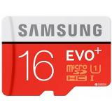 Samsung 16 GB microSDHC Class 10 UHS-I EVO Plus + SD Adapter MB-MC16DA - фото 1