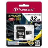 Transcend 32 GB microSDHC class 10 UHS-I Ultimate + SD Adapter TS32GUSDHC10U1 - фото 1