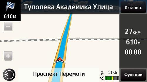 «Карти Ovi»  (прокладений маршрут - дорога)