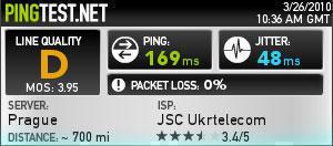 3G-підключення  «ОГО! Мобільний »(Сервер - Прага)