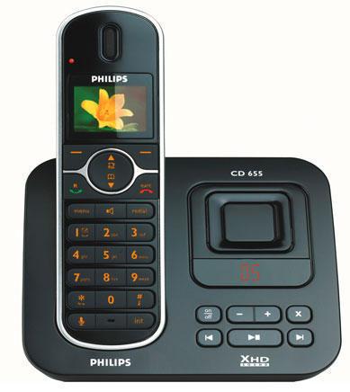 Радиотелефон Philips CD 6551, два в одном - громкая связь и автоответчик