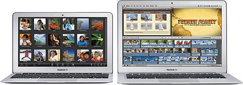Ноутбуки MacBook Air с 11,6- и 13,3-дюймовым дисплеем