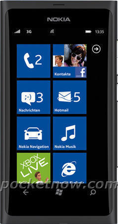 Смартфон Nokia 800 (Нокиа 800) чёрный
