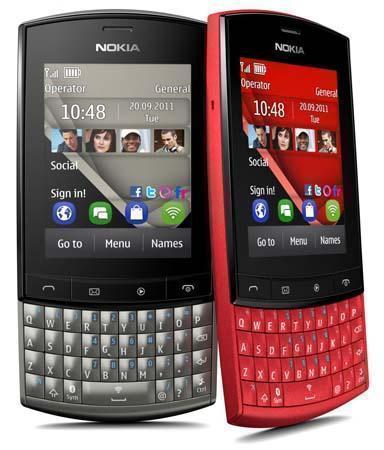 Nokia Asha 303 (Нокиа Аша 303), красное и черное