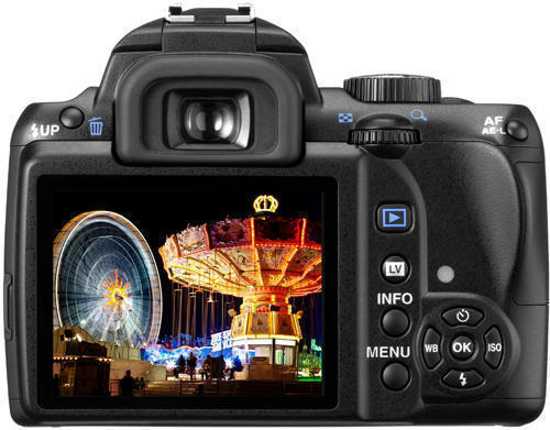 фотокамера Pentax K-r (вид сзади)