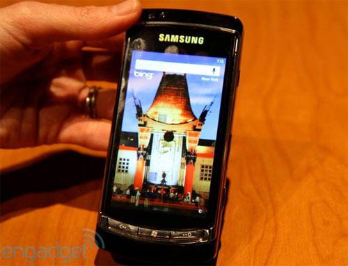 Прототип смартфона Samsung (Самсунг) на ОС Windows Phone 7 (Пошукова система Bing)