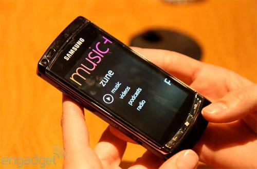 Прототип смартфона Samsung (Самсунг) на ОС Windows Phone 7 (Музика)