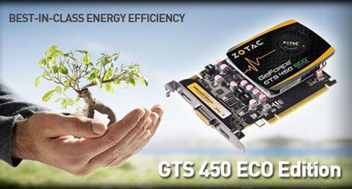 Видеокарта ZOTAC GeForce GTS 450 ECO