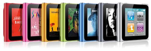iPod nano 6G (семь расцветок)