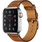 Apple Watch Hermes Series 4 GPS + LTE 40mm Steel w. Fauve Grained Barenia Leather (MU6M2) - фото 1