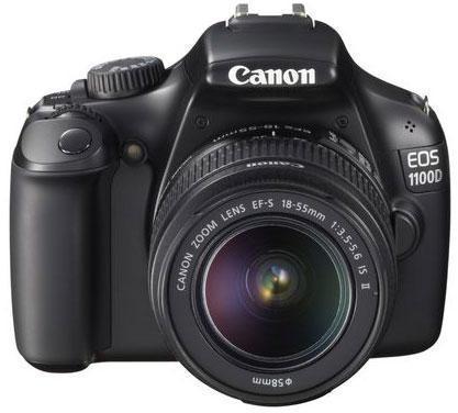Главное фото Фотокамера зеркальная Canon EOS 1100D KIT черный 12Mp...