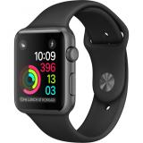 Apple Watch Series 1 42mm Space Gray Aluminum Case with Black Sport Band (MP032) - фото 1